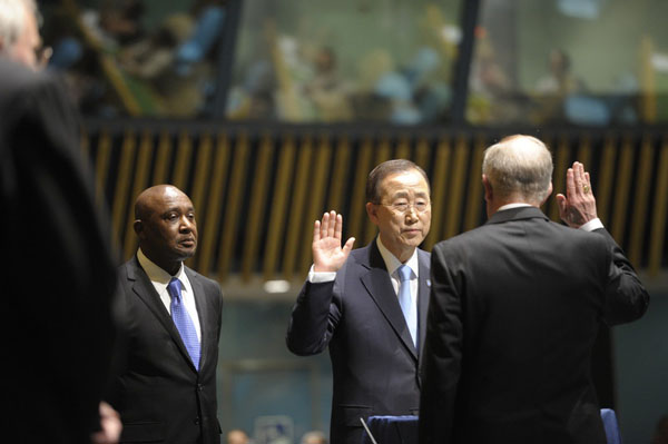 Palestinian human rights groups urge Ban Ki-moon to end the UN's contracts with G4S. Mark Garten UN Photo