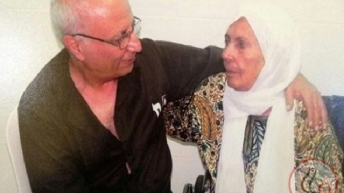 Political prisoner Palestinian Karim Younis marked 36 years of captivity in Israeli occupation prisons. (Photo: via Wafa, Twitter)