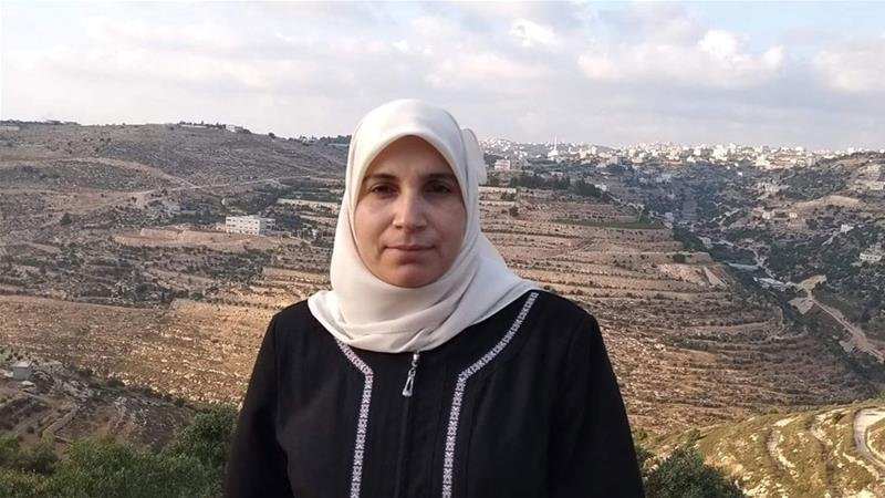Lama Khater, a writer and mother of five, was arrested from her home in Hebron by Israeli forces [Courtesy of al-Fakhouri family]
