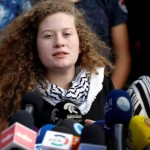 Palestinian teenager Ahed Tamimi speaks during a news conference after she was released from an Israeli prison, in the Nabi Saleh village in the West Bank July 29, 2018. REUTERS/Mohamad Torokman