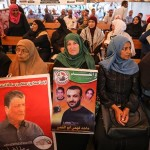 People gather in front of International Committee of the Red Cross office in Gaza City to show their support to Palestinian prisoners in Israeli jails [File: Anadolu Agency]