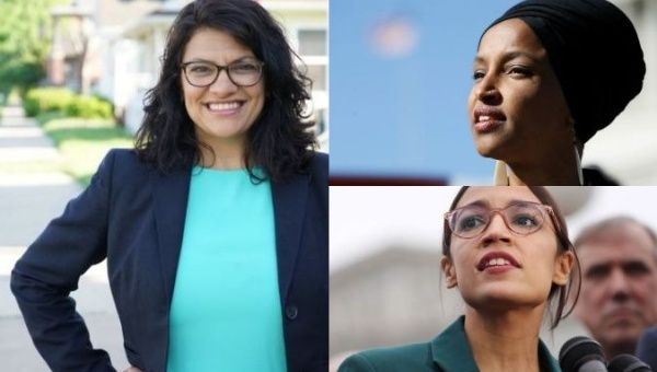 AOC, Tlaib, and Omar signed bill to stop Israeli aid. | Photo: Reuters