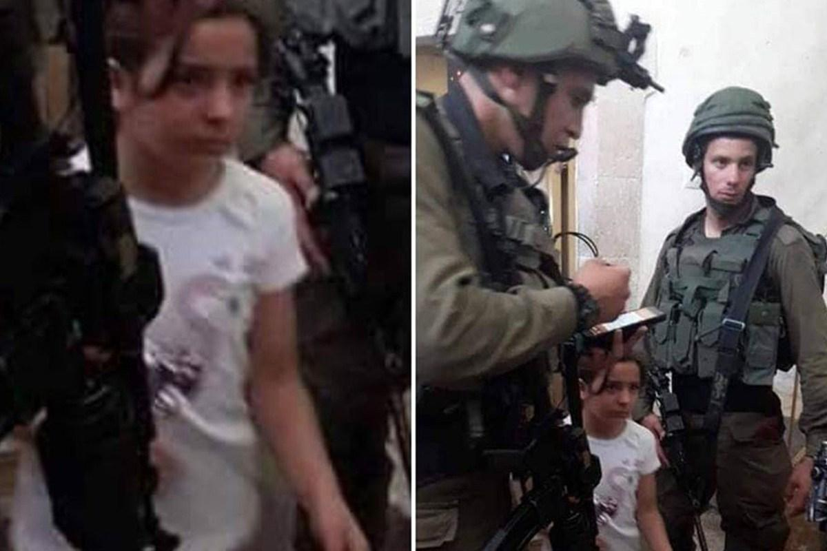Israeli forces summoned an eight-year-old Palestinian girl, Malak Sadr, for interrogation in the West Bank city of Hebron