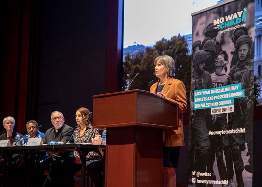 Rep. Betty McCollum (r) joins Christian leaders in condemning Israel's treatment of Palestinian children. (PHOTO COURTESY OFFICE OF REP. BETTY MCCOLLUM)