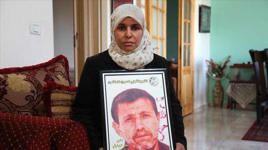 Iman Nafi, wife of Palestinian longest-serving prisoner Nael Barghouthi, speaks to Anadolu Agency